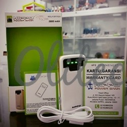 Powerbank Hippo Snow White Simple Pack 5800mAh