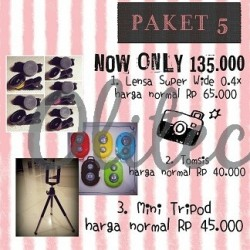 Paket 5 (TOMSIS, Mini Tripod, Superwide)