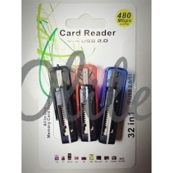 Ready Card Reader Dua Slot 32In 1 USB 2.0/1.1 480Mbps