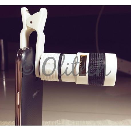 Lensa Telezoom 8X (Hitam dan Putih)