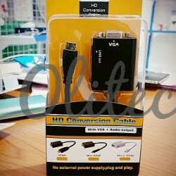 Cable Mini HDMI to VGA+Audio output